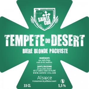 Bière Sainte Cru tempête du désert blonde alsace