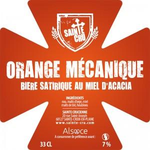 Bière Sainte Cru orange mécanique triple alsace