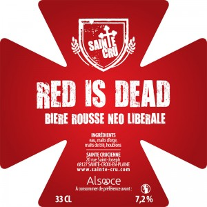 Bière Sainte Cru red is dead rousse alsace
