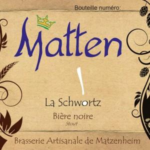 Bière Stout Noire Matten La Schwortz alsace