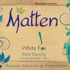Bière Blanche Matten White Fox